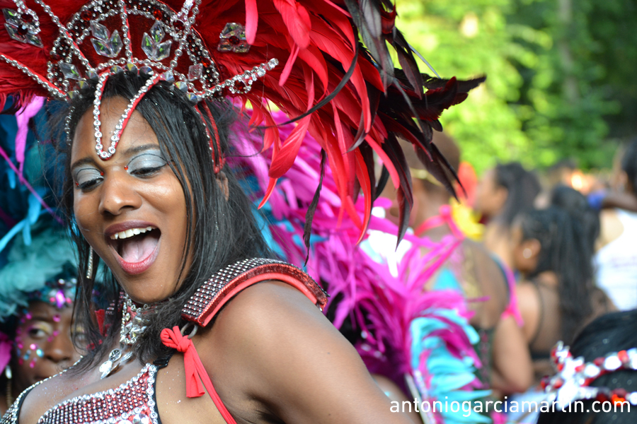 Dancing girl at the Notting Hill Carnival 2013
