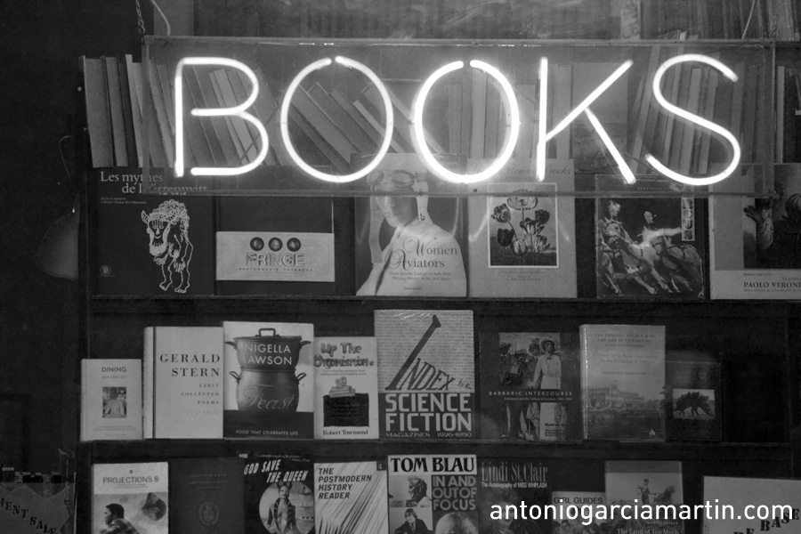 Books. Book store at Charing Cross, London.