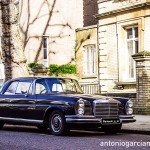 The old Mercedes parked at Holland Park