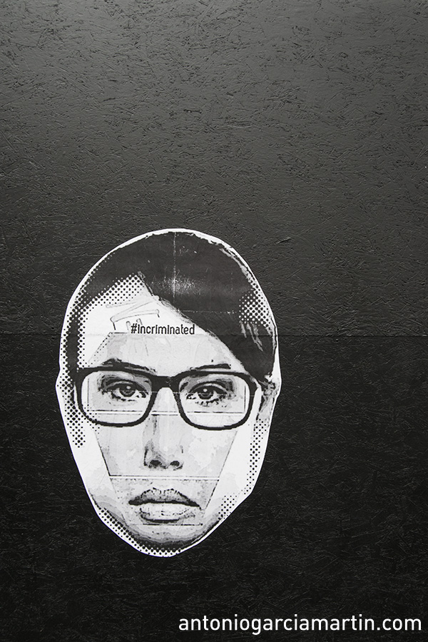 #Incriminated Streetart Shoreditch London Sticker