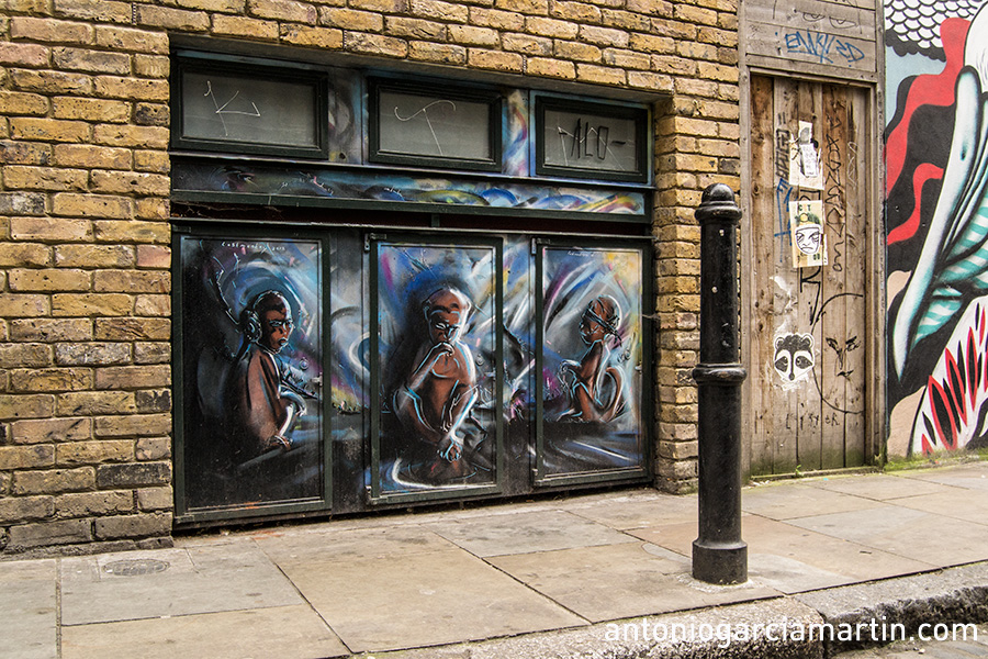 Three wise monkeys - Bricklane - Shoreditch - London - Streetart
