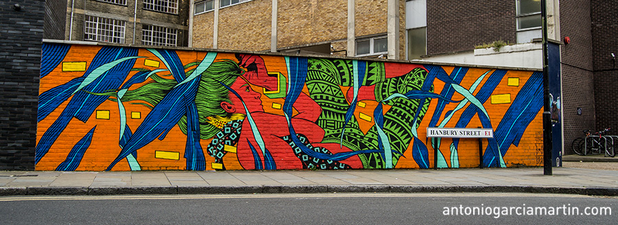 Mural by Bicicleta Sem Freio - Shoreditch - London