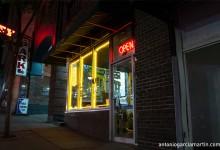 the tattoo studio at night in Nashvill, Tennessee